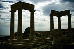 стародедовские колонки Греция Стоковые Фотографии RF