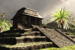 стародедовские майяские руины иллюстрация вектора