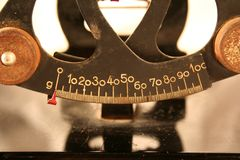 Стародедовские маштабы баланса Стоковое Фото
