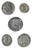 стародедовские монетки греческие Стоковые Изображения RF