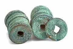 стародедовские монетки фарфора стоковое изображение