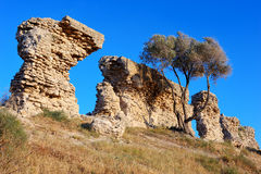 стародедовские стены остаток стоковые изображения