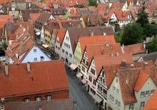 стародедовские центральные крыши красного цвета Германии Стоковые Фотографии RF