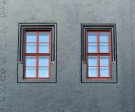 стародедовские 2 окна Стоковая Фотография