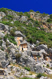 стародедовские lycian усыпальницы myra Стоковая Фотография RF
