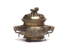 стародедовский бронзовый ладан горелки Стоковые Изображения