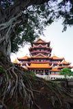 стародедовский висок китайца фарфора зодчества Стоковая Фотография RF