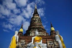 стародедовский висок Таиланд ayudhya Стоковое Изображение RF