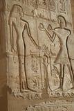 Стародедовский египетский bas-relief Стоковые Фото