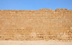 стародедовский каменный желтый цвет стены текстуры Стоковые Изображения RF