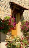 стародедовский камень дома фронта двери деревянный Стоковые Фото