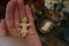 стародедовский комплект места рождества figurines Стоковое фото RF