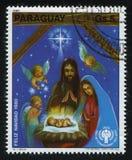стародедовский комплект места рождества figurines стоковое изображение rf