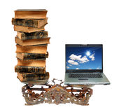 стародедовский лоток 2 тетради книг баланса Стоковые Изображения RF