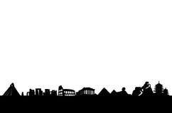 стародедовский мир сценария наземных ориентиров Стоковое Изображение RF