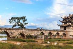 Стародедовский мост в южном Китай Стоковая Фотография