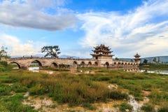 Стародедовский мост 16 сводов в южном Китай Стоковые Фото