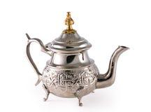 стародедовский серебряный чайник Стоковая Фотография