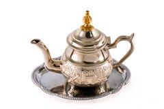 стародедовский серебряный чайник Стоковое фото RF