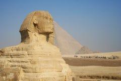 стародедовский сфинкс пирамидки Египета Стоковые Изображения