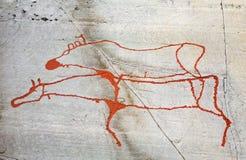 стародедовский утес carvings стоковые фотографии rf