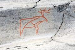 стародедовский утес carvings стоковые изображения rf
