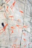 стародедовский утес carvings стоковая фотография rf