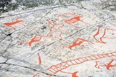 стародедовский утес carvings стоковое изображение rf