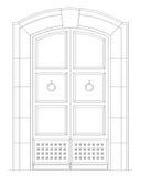 стародедовский фронт двери Стоковое Изображение RF