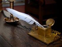 стародедовский inkwell пера Стоковые Фотографии RF