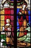 стародедовское запятнанное стекло церков brou Стоковые Изображения RF
