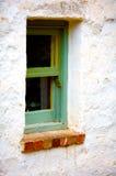 стародедовское зеленое окно деревянное Стоковые Изображения RF