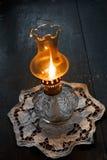 стародедовское масло светильника пламени Стоковые Фотографии RF