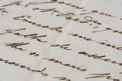 стародедовское письмо Стоковые Изображения RF