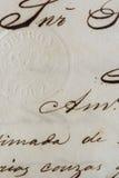 стародедовское письмо Стоковое фото RF