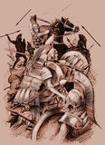 стародедовское сражение стоковые фото