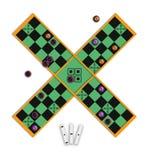 стародедовское pachisi настольной игры Стоковая Фотография RF