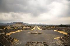 Стародедовское Teotihuacan в Мексике Стоковые Фотографии RF