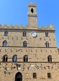 стародедовское volterra Тосканы здание муниципалитет Стоковые Изображения RF