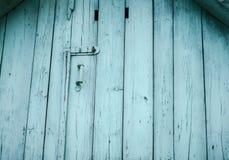 Старое ¾ Ñ€ ¾ Ð бирюзы Ð'Ð на чердаке сделанном из древесины Стоковое фото RF