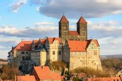 Старое аббатство Кведлинбурга, Германии стоковое фото