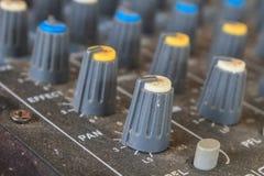 Старое аудио оборудования кнопок Стоковое Изображение RF