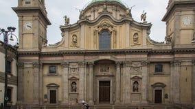 Старое барочное здание в Милане стоковое фото rf