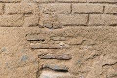 Старое бежевое brickwall Стоковые Фото