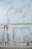 Старое белое винтажное craquelure стены Стоковые Изображения RF