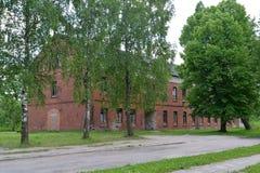 Старое брошенное здание немецкой конструкции в городе g Стоковое Фото