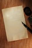 старое бумажное пер Стоковые Изображения