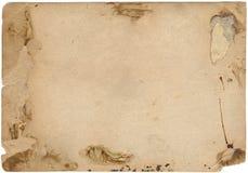 старое бумажное фото Стоковая Фотография