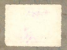 старое бумажное фото Стоковое Изображение RF