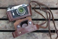 Старое взгляд сверху камеры Стоковое фото RF